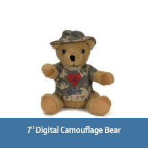 7 Inch Digital Camo Bear